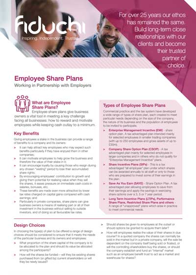 Fiduchi Employee Share Plans (UK) Leaflet