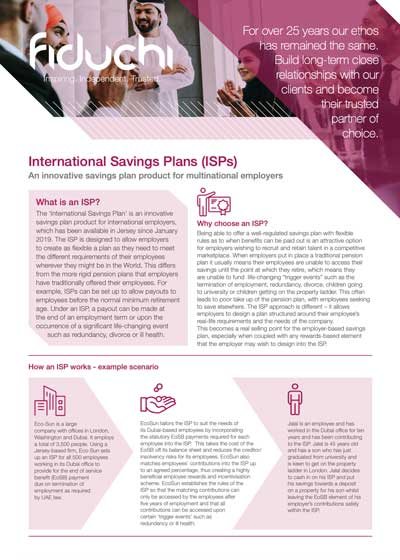 International Savings Plans (ISPs) helpful guide leaflet