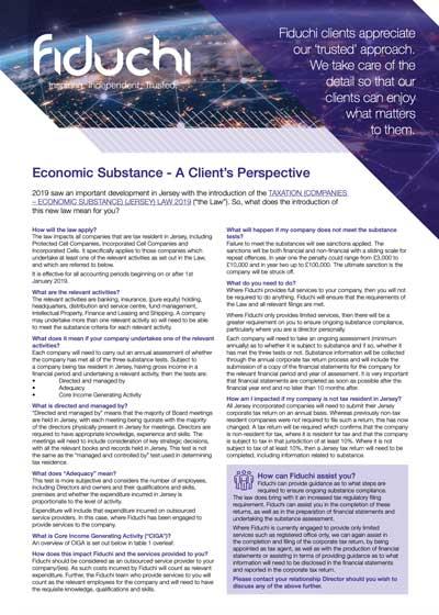 Economic Substance - A Client's Perspective