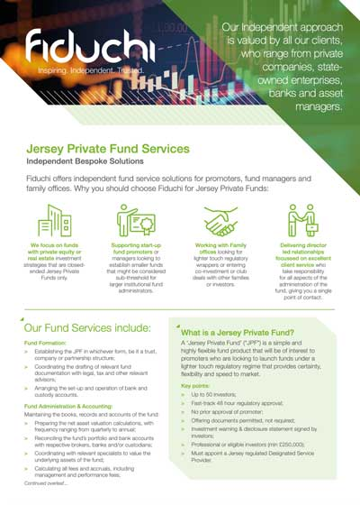Fiduchi Jersey Private Funds Leaflet