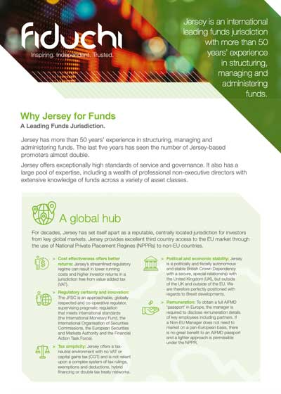 Why Jersey for Funds Leaflet