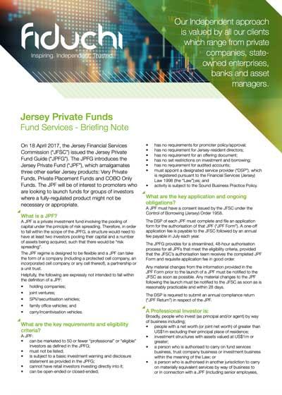 Jersey Private Funds - Fiduchi Briefing Note