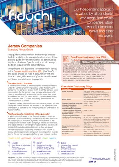 Jersey Limited Companies - Statutory Filings Guide
