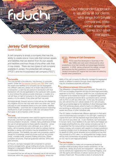 Jersey Cell Companies Leaflet