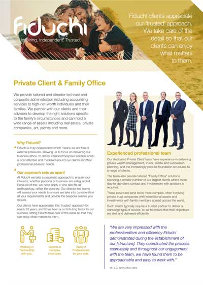 Private Wealth e Family Office folheto