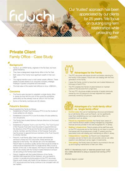 Fiduchi Family Office Case Study