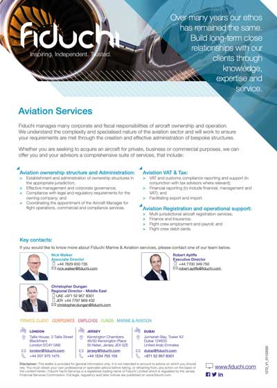 Fiduchi Aviation Services Leaflet
