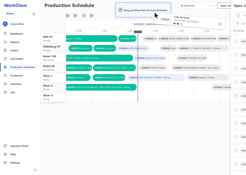 production schedule APS