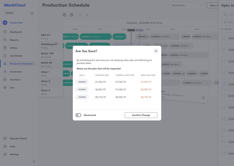 production schedule constraints