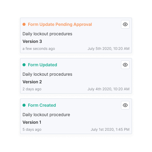Versioning and Approvals