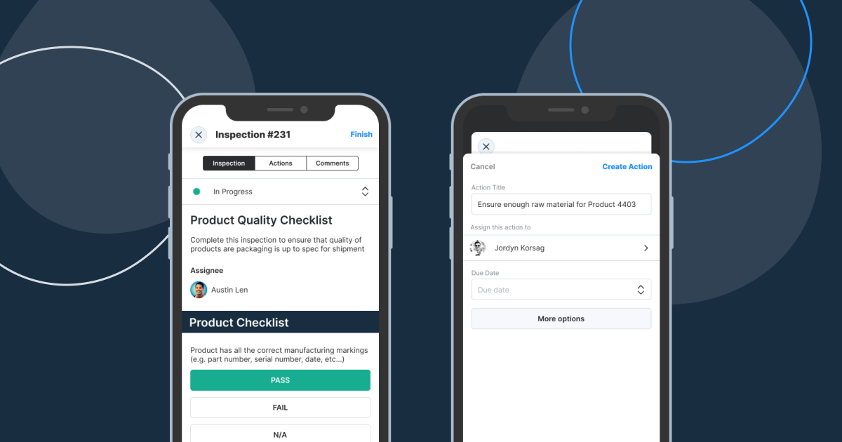 WorkClout Mobile Assign Actions