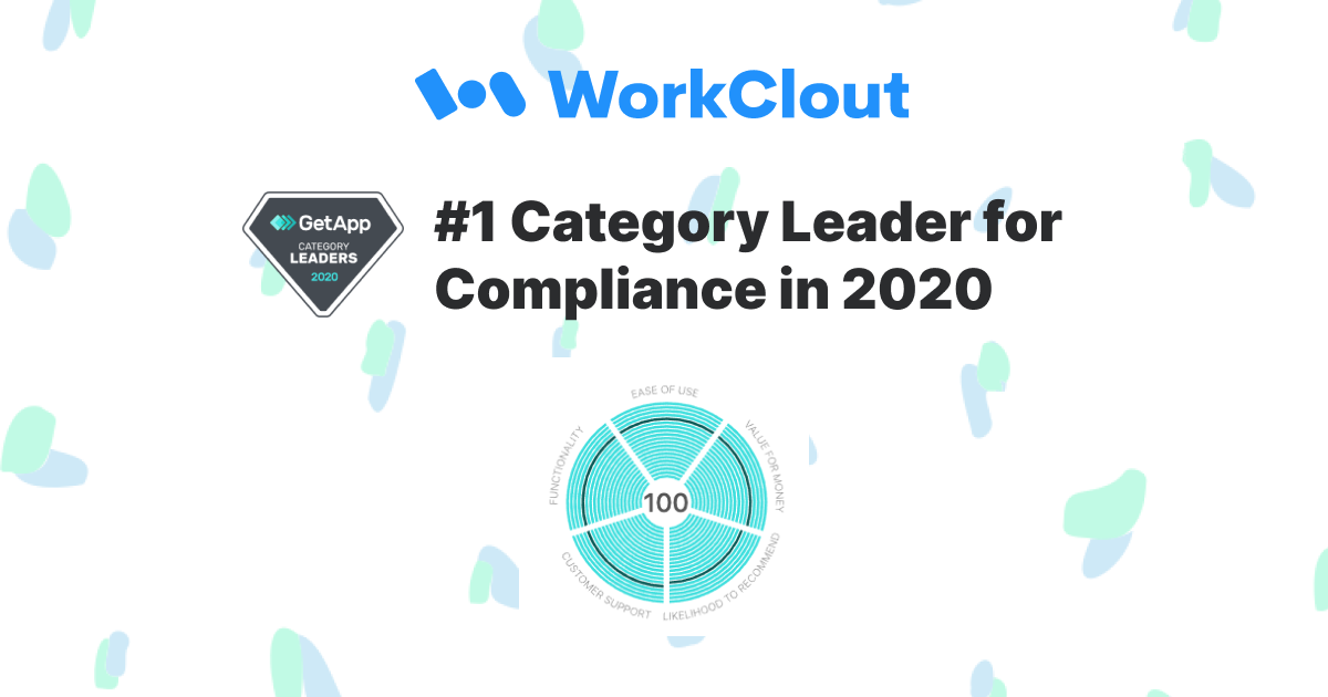 WorkClout Ranks #1 on GetApp category leaders for Compliance
