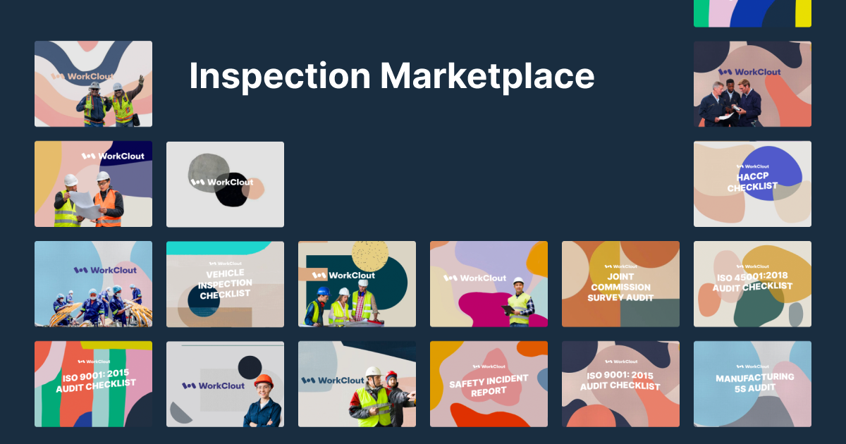 New Features: Explore new templates from the inspection marketplace
