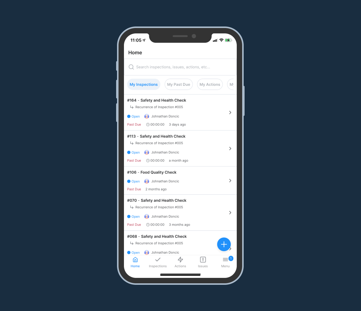 Image of WorkClout iOS application