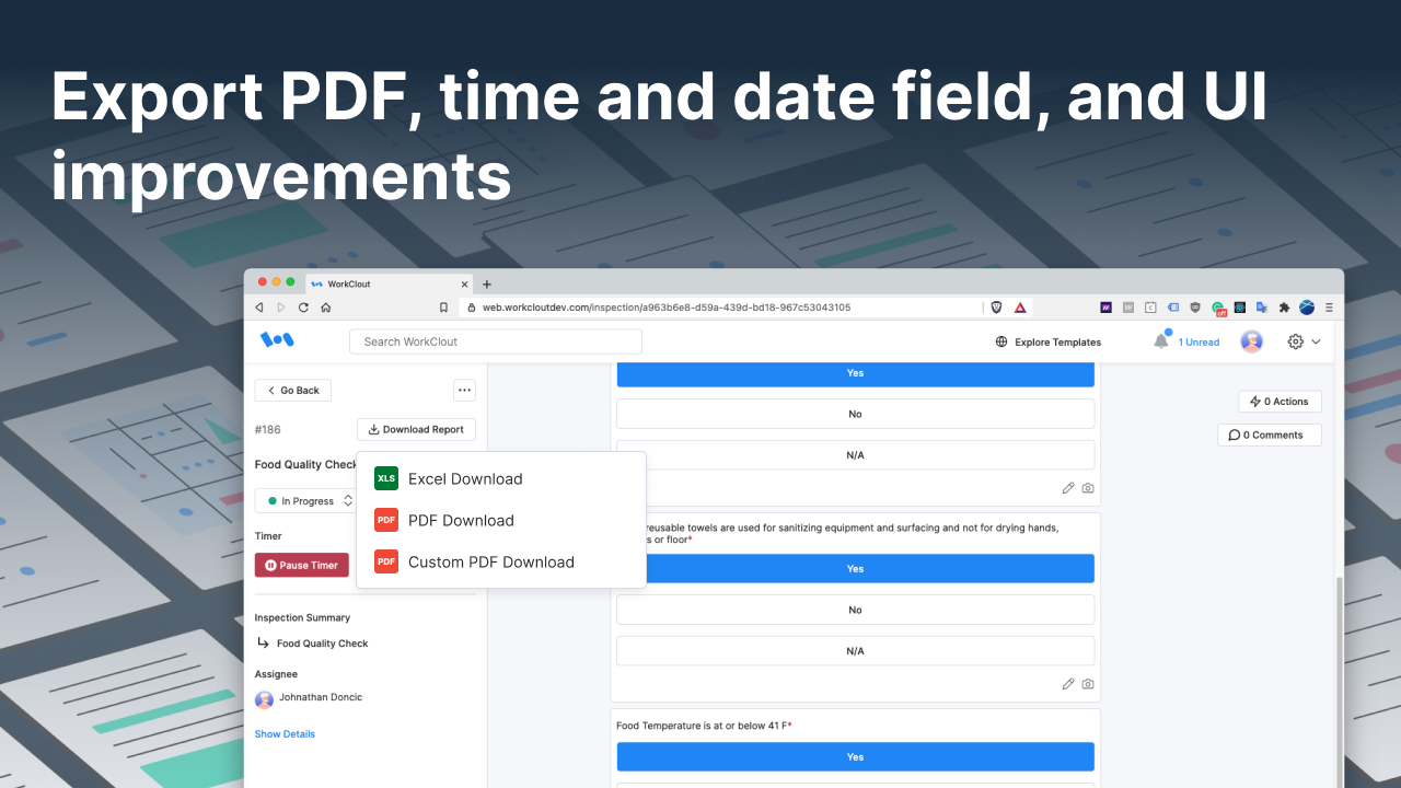 Feature Updates: Export PDF Results, Capture Time, and UI Improvements