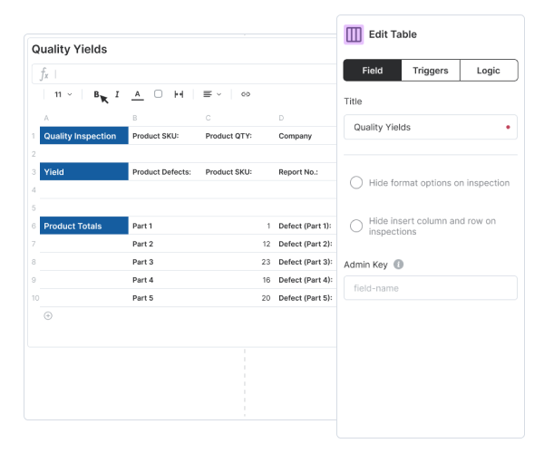 Build smart forms that automate data collection
