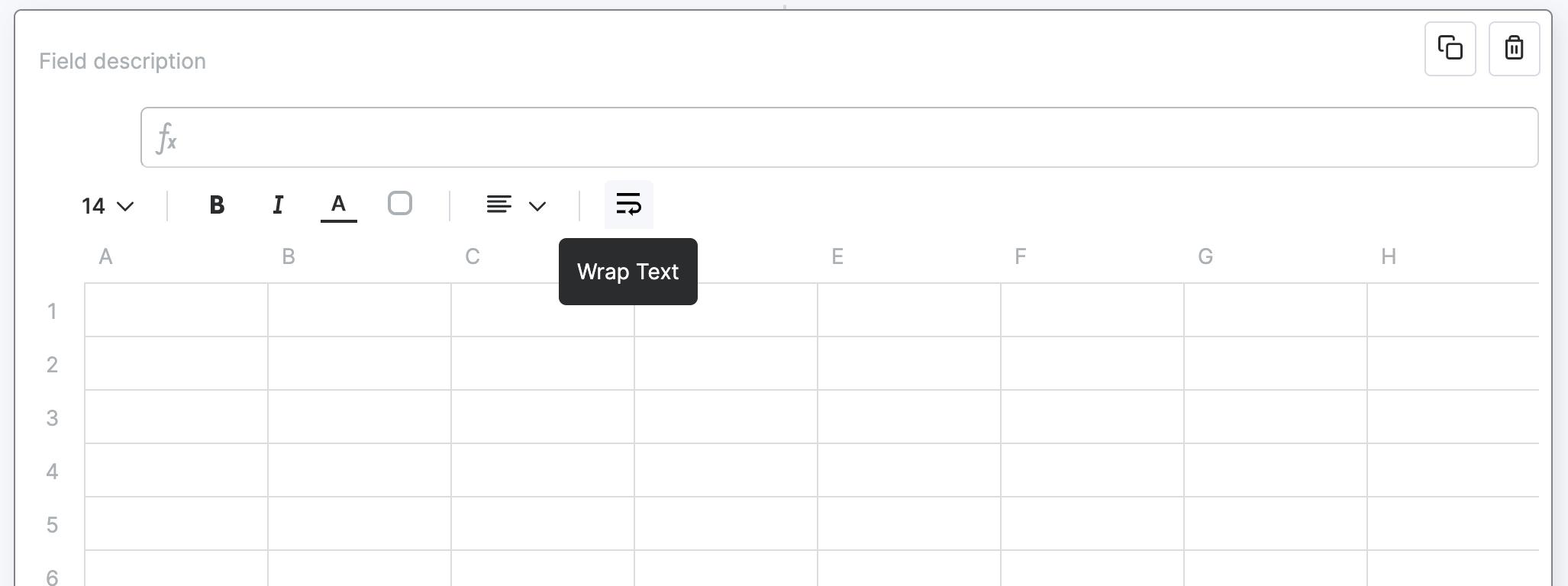Wrap Text on Custom Tables