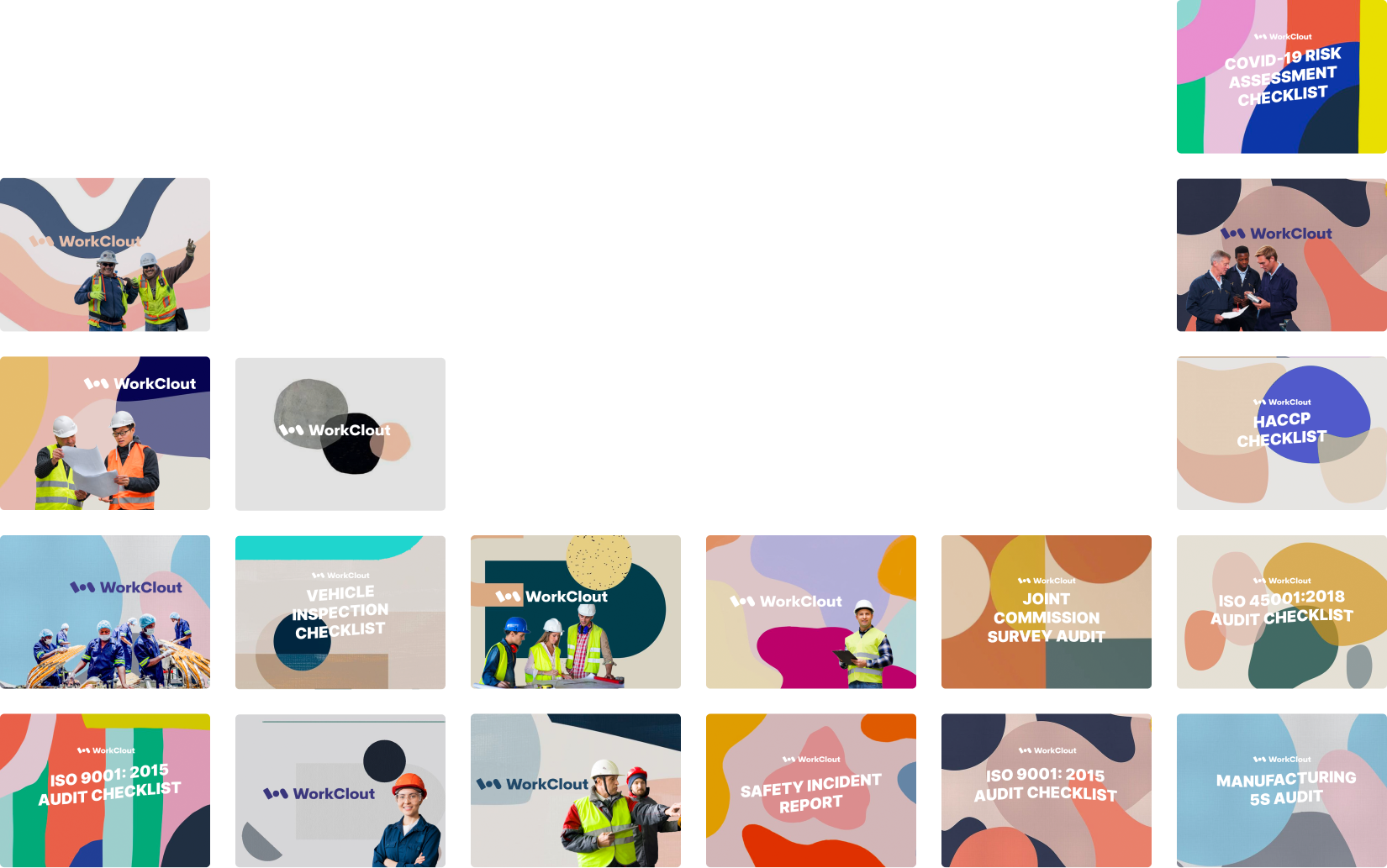 WorkClout inspection template collage
