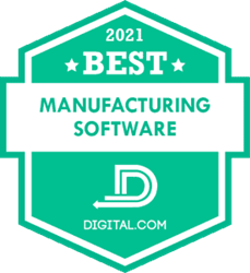 WorkClout badge for best manufacturing software 2021