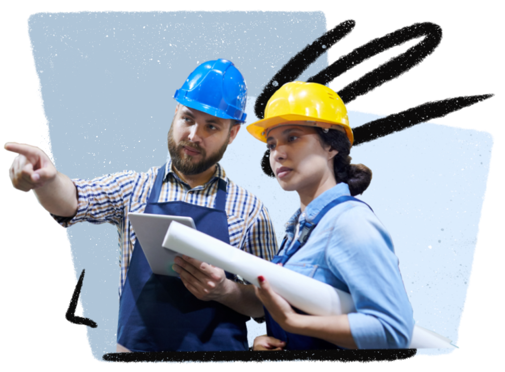 industrial workers performing workclout quality check