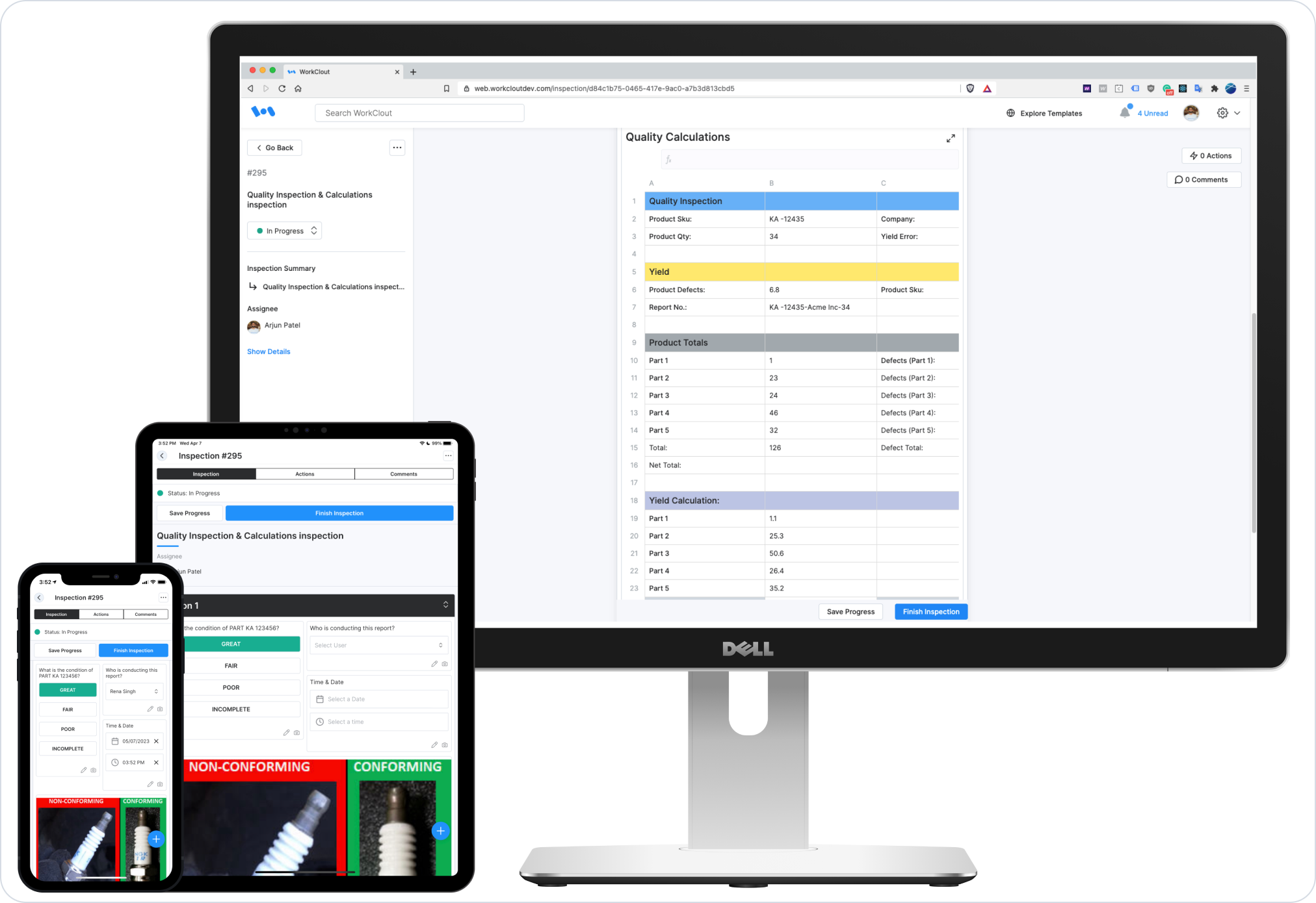 WorkClout is available on desktop, tablet, and mobile devices