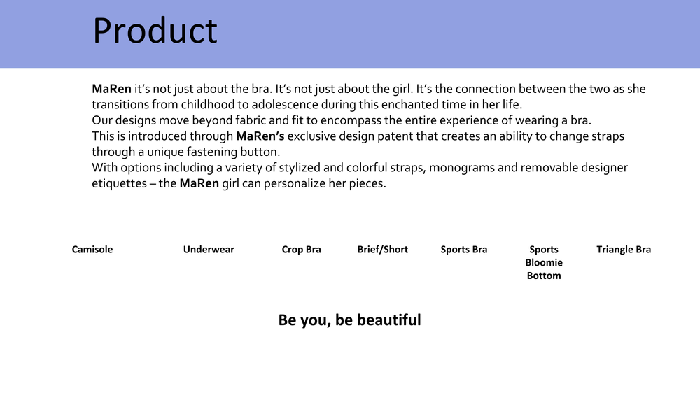 MaRen pitch deck before