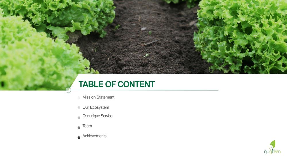 gogreen company presentation