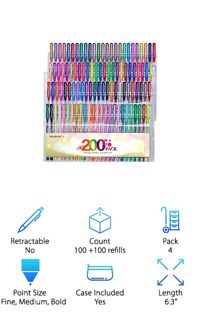 Reaeon Gel Pens Coloring Set