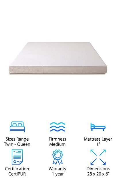 If you've ever slept on a sleeper sofa, you know that they're less than comfortable. In fact, you may have wondered if it might be more comfortable to sleep on the floor. Do your house guests a favor and replace your current sleeper sofa mattress with this one from Zinus. The top layer consists of premium gel-infused memory foam so whether it's you or a guest sleeping on the pullout bed, there's a good night's sleep ahead. The memory foam is supportive enough that even side sleepers will love it. And the gel? Disperses body heat to keep you cool and comfortable. This is made with the same foam as all Zinus mattresses - BioFoam with natural green tea extract and active charcoal to absorb moisture and eliminate odors.