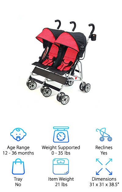 Kolcraft Side-by-Side Stroller