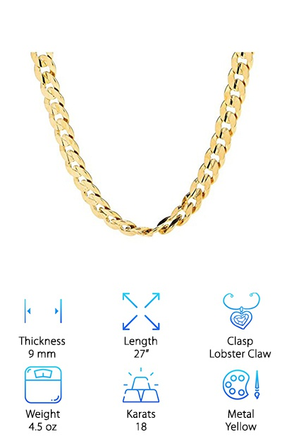 18K Diamond Cut Gold Chain