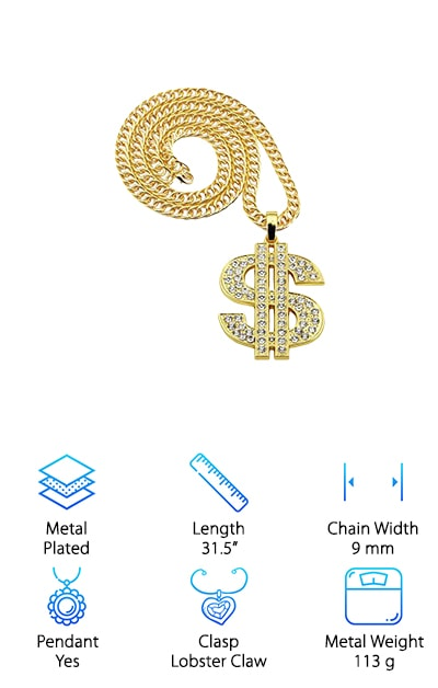 NYUK Dollar Hip Hop Chain