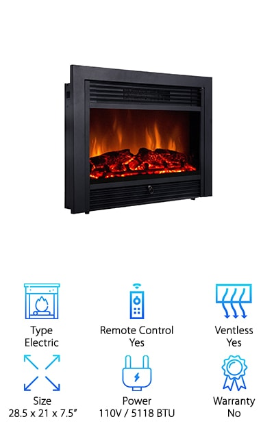 Giantex Electric Fireplace Insert
