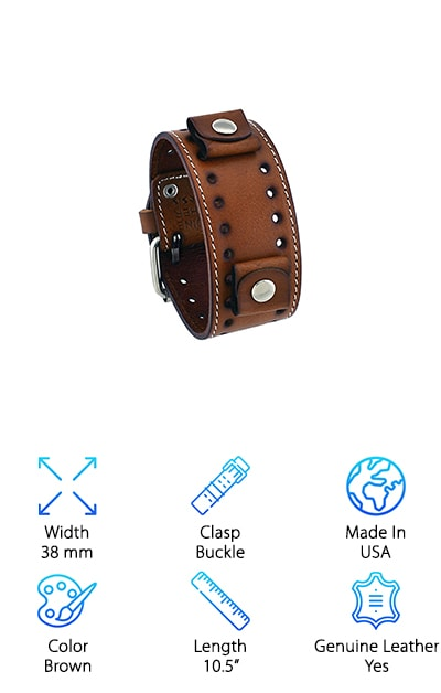 0987c05a5 10 Best Leather Cuff Watch Bands 2019 [Buying Guide] – Geekwrapped