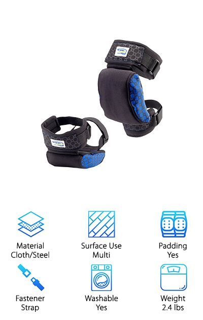 The Steel-Flex Strapped Knee Pads work a little differently than the rest of our top-ten list, and we think you're going to appreciate the originality. Why? Because Steel-Flex is using patented technology to change the way your knees feel when you're kneeling on the ground. Here's how it works: a patented leaf spring cushioning system is built into these pads, creating an egg-crate surface that distributes your weight and keeps your knees feeling good. Items like small rocks won't pinch and poke like they would with other knee pads. Thick straps with dust-resistant fastening will hold these Steel-Flex products in place. Sweat will be wicked away by the soft, breathable fabric inside, and even if dirt builds up, these can be thrown into the sink for a good rinse. Masonry and flooring will no longer be as intimidating with this pair on your side, and they're available at a very affordable price. You'll want to get a pair for your whole crew.