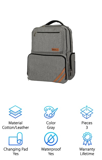 Bembar Co. Diaper Bag Backpack