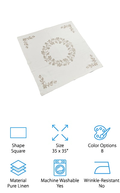 Organic Linen Tablecloth Topper