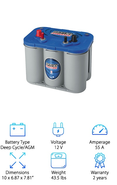 Optima Batteries Deep Cycle Marine Battery