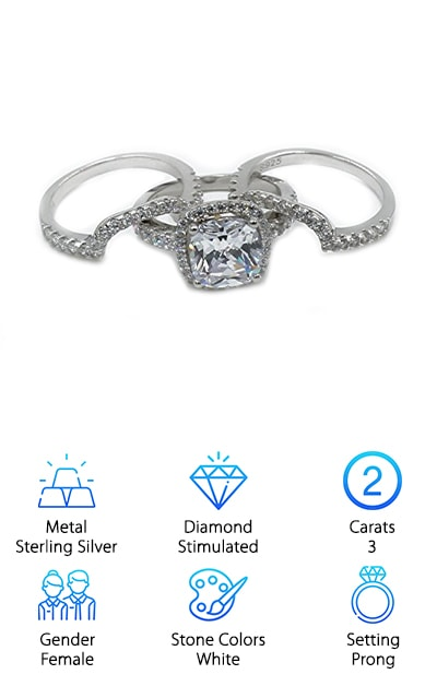 H&H Engagement Ring Set