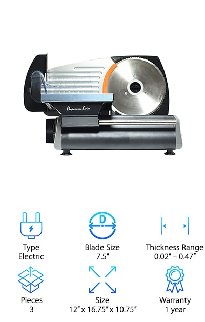 Continental PS77711 Deli Slicer