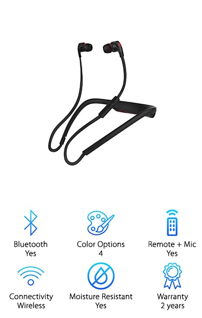These earbuds are great for anyone making a Skullcandy andy earbuds comparison. These are a great choice because they are great for anyone who wants to get great sound from a wireless set of headphones. They come in four colors so you can always find something that works for you. The colors options are- black, black/red, white, and blue. These headphones come with Bluetooth wireless connectivity. It can last for six hours, which means it will keep going for as long as you fo. They also come with a removable flexible collar that can help you keep your headphones on. This makes it a great choice for anyone who wants something sturdy to keep their headphones on when they're running around the town. They also come with an included mic and remote, which makes it a great choice for anyone who wants something that can easily be controlled. They provide supreme sound quality.