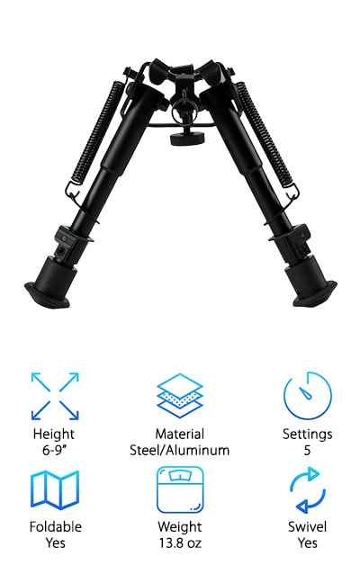 Lukher Tactical Rifle Bipod