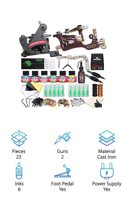 Dragonhawk Rotary Tattoo Kit