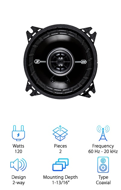 Kicker 41DSC44 Speakers