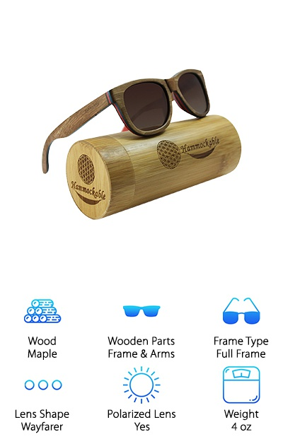 cb9eaa6042 Hammockable Maple Wood Sunglasses