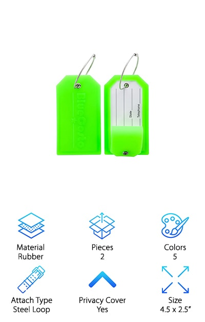 BlueCosto Luggage Tags