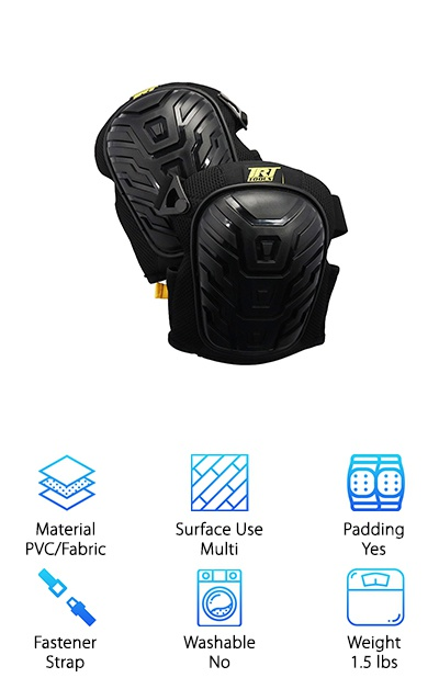 Does your house need a fresh coat of paint? Did you promise to build a new deck outside so the kids can grab some sun? Or do you like to unwind by running tactical ops with friends? For all of these reasons and plenty of others, you need a good pair of knee pads. We selected the TRT Heavy Duty Knee Pads because they are exactly what the doctor ordered. They are strong and tough on the outside, soft and cushy on the inside. Here's the deal: These knee pads are fronted by large PVC caps to keep you safe and stop you from sliding around. They're padded not once, but twice, with memory foam and gel. All of this will stay on, too, with a great dual strap system. One is flexible neoprene with an adjustable clip. The other is Velcro to help you find the right fit. It's time to strap in and have some fun at work!