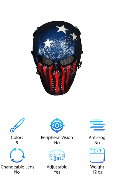 OutdoorMaster Full Airsoft Mask
