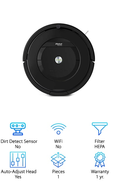 Check out our iRobot Roomba 805 review. It offers a high efficiency filter and 2 different cleaning options. You can either push the button on top of the unit when you're ready to go or you can schedule it to clean up to 7 times per week. It's able to automatically adjust to different floor types including hard surfaces and carpeting, plus it has 2 virtual wall barriers that can keep it contained where you want which gives you an edge on the Roomba 805 vs. 650. On top of that, it's able to dock itself and recharge so it's ready to go for the next scheduled cleaning day. The navigation system allows it to know where to go and how to avoid drops as well as where to avoid furniture but still get under it for a more thorough clean. On top of that, it can deliver a large amount of air power to clean stubborn areas and it makes sure your home is cleaner than ever.