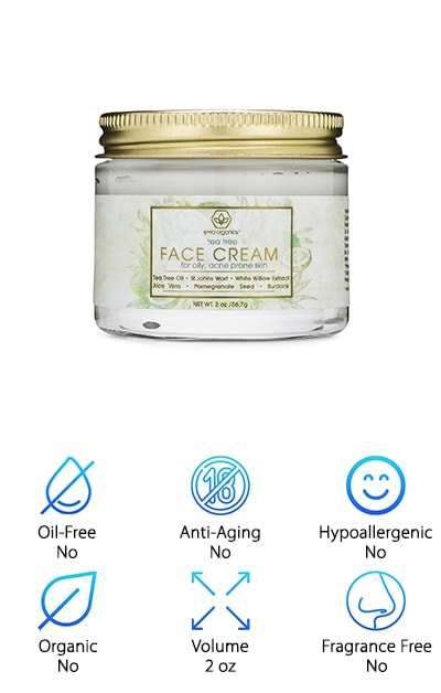 Sustainably sourced, powerful natural and organic ingredients can go a long way in transforming your skincare routine. Here's one example: Tea Tree Oil Face Cream from Era Organics. This company has made it their mission to deliver sustainable, natural products to alleviate many common skin issues. Era Organics recommends this cream for people who deal with oily skin, acne-prone skin, rosacea, and even cystic acne. It is so soothing, it can help with all of those problems! There is salicylic acid included in the ingredient list, along with pomegranate, burdock root, and dandelion root. The mixture is non-comedogenic and vegan. It is also cruelty-free since Era Organics does not perform animal testing. With two ounces in every jar, this moisturizer will last for weeks on your shelf. Era Organics has an entire line of skincare products, but we recommend beginning with the basics! Men, women, and teenagers will all love the effects of this marvelous lotion. Try it today!